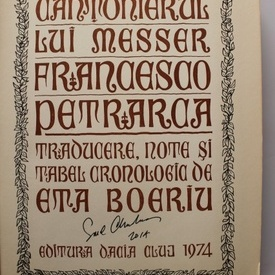 Francesco Petrarca - Cantonierul lui Messer (cu autograful ilustatorului, Emil Chendea)