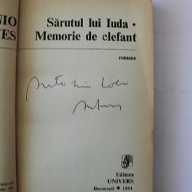 Antonio Lobo Antunes - Sarutul lui Iuda (cu autograf)