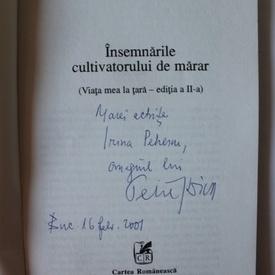 Petre Stoica - Insemnarile cultivatorului de marar (cu autograf)
