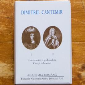 Dimitrie Cantemir - Opere. Istoria maririi si decaderii Curtii othmane (2 vol., editie bilingva, romana-latina, hardcover)