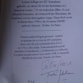Georg Trakl - Sebastian in vis/Sebastian im Traum (editie bilingva romana-germana, cu autograful traducatorului - Petre Stoica, al ilustratorului - Tudor Jebeleanu si al ingrijitorului editiei - Nicolae Tzone)