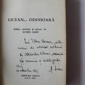 Ion Agarbiceanu - Liicean... odinioara (cu autograful lui Aurel Sasu)