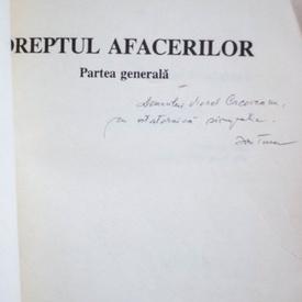 Ion Turcu - Dreptul afacerilor (cu autograf)