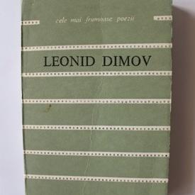 Leonid Dimov - Texte. Cele mai frumoase poezii