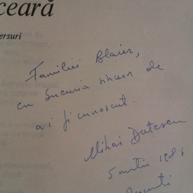 Mihai Dutescu - Muzeul de ceara (cu autograf)