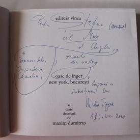 Nicolae Tzone - Oase de inger. New York-Bucuresti (editie bibliofila, cu autograf)