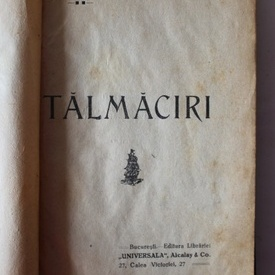 St. O. Iosif - Talmaciri (editie hardcover, interbelica, relegata)