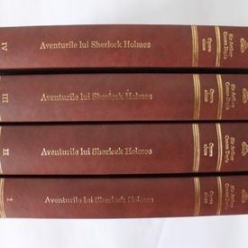 Arthur Conan Doyle - Aventurile lui Sherlock Holmes (4 vol., seria completa, editie hardcover, invelita in piele)