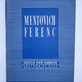 Mentovich Ferenc - Texte filosofice