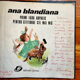 Ana Blandiana - Poeme fara arpagic pentru cititorul cel mai mic (editie hardcover, frumos relegata, cu autograf)