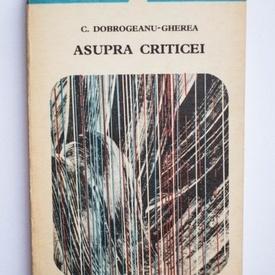 C. Dobrogeanu-Gherea - Asupra criticei