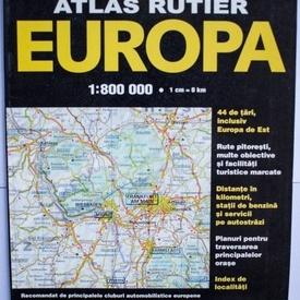 Colectiv autori - Atlas rutier Europa 1 : 800.000 (editie multilingva, format mare)