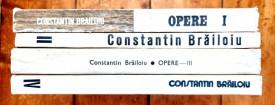 Constantin Brailoiu - Opere / Oeuvres I-IV (4 vol., editie bilingva, romano-franceza)