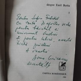 Doina Uricariu - Apocrife despre Emil Botta (cu autograf)