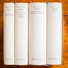 Emil Cioran - Opere I-IV (I. Volume, II. Volume. Publicistica. Manuscrise. Corespondenta, III. Volume (3). Publicistica (2). Interviuri. Corespondenta, IV. Corespondenta. Note si comentarii) (4 vol., editie hardcover)
