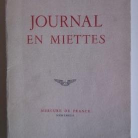 Eugene Ionesco - Journal en miettes (editie princeps in limba franceza)