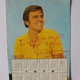 Florin Piersic - ilustrata-calendar, cu autograful celebrului actor