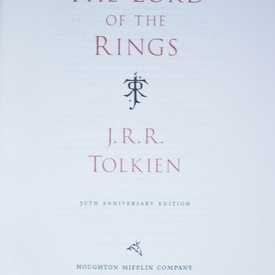 J.R.R. Tolkien - The Lord of The Rings (50th Anniversary Edition) (editie hardcover, bibliofila, in limba engleza, in caseta speciala)