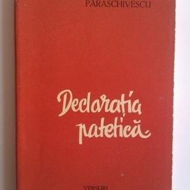 M. R. Paraschivescu - Declaratia patetica (cu autograf)
