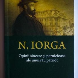 N. Iorga - Opinii sincere si pernicioase ale unui rau patriot