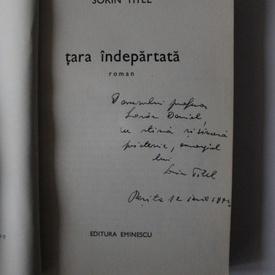 Sorin Titel - Tara indepartata (cu autograf)