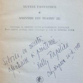 Victor Papilian - Lacrima (cu autograful Corneliei Papilian)