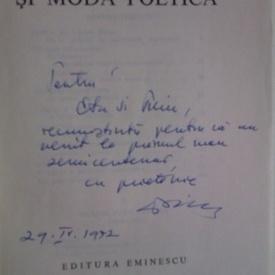 Stefan Aug. Doinas - Poezie şi modă poetică (cu autograf)