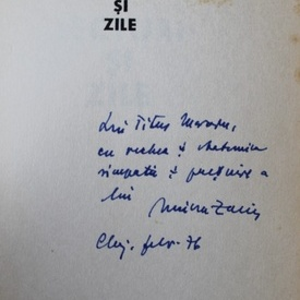 Mircea Zaciu - Lecturi si zile (cu autograf)
