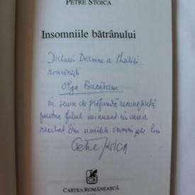 Petre Stoica - Insomniile batranului (cu autograf)