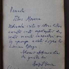 Bazil Gruia - Lucian Blaga inedit - amintiri si documente (cu autograf)