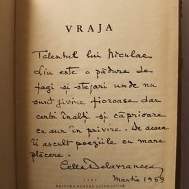 Cella Delavrancea - Vraja (editie hardcover, cu autograf)