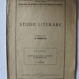 D. Popovici - Studii literare (cu autograf)