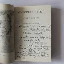 Gheorghe Pitut - Noaptea luminata. Cele mai frumoase poezii (cu autograf)