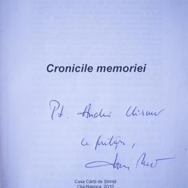 Hanna Bota - Cronicile memoriei (cu autograf)