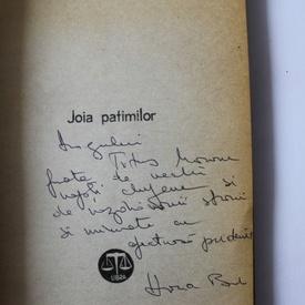 Horia Badescu - Joia patimilor (cu autograf)