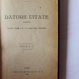Jean Bart - Datorii uitate (editie frumos relegata, hardcover, interbelica)