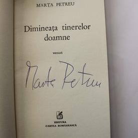 Marta Petreu - Dimineata tinerelor doamne (versuri) (cu autograf)
