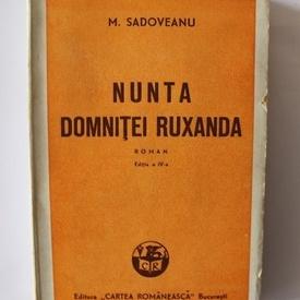 Mihail Sadoveanu - Nunta domnitei Ruxanda