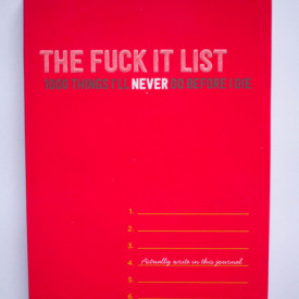 The Fuck It List (1000 Things I`ll Never do before I die)