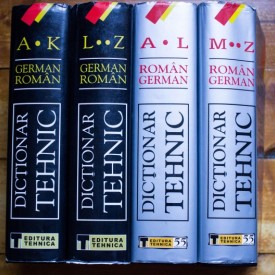 Wilhelm Theiss, Maria-Liliana Theiss - Dictionar tehnic german-roman, roman-german (4 vol., editii hardcover)
