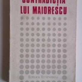 Nicolae Manolescu - Contradictia lui Maiorescu