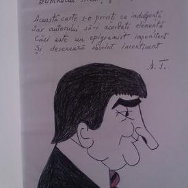 Mircea Tiberian - O suta de desene cu catrene (cu autograf si portret realizat de autor)