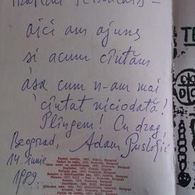 Adam Puslojic - Pandemonijum (editie in limba sarba, cu autograf)