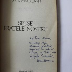 Nicolae Mocanu - Spuse fratele nostru (cu autograf)