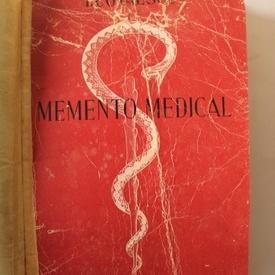 I. Cotaescu - Memento medical (editie hardcover, frumos relegata)