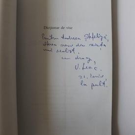 V. Leac - Dictionar de vise (cu autograf)