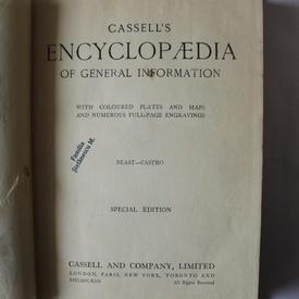 Cassell`s Encyclopaedia of general information (vol. 2, Beast-Castro) (editie hardcover in limba engleza)