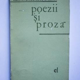 Agatha Grigorescu-Bacovia - Poezii si proza