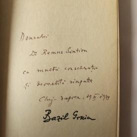 Bazil Gruia - Efigiile riscului (cu autograf)