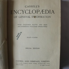 Cassell`s Encyclopaedia of general information (vol. 2, Beast-Castro) (editie hardcover in limba engleza)